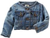 Osh Kosh Collarless Denim Jacket - Blue Skies Wash