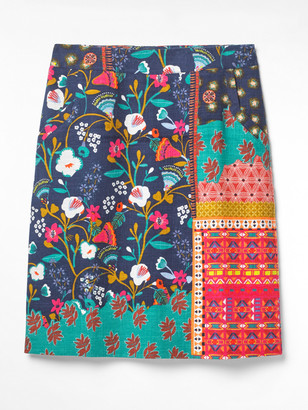 White Stuff Patchwork Print Skirt