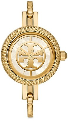 Tory Burch Reva Goldtone Stainless Steel Bangle Watch Gift Set