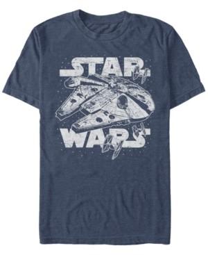Star Wars Men's Classic Millennium Falcon Starry Short Sleeve T-Shirt