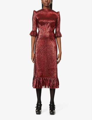 The Vampire's Wife The Falconetti metallic silk-blend maxi dress