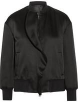 Neil Barrett Ruffled satin bomber jacket