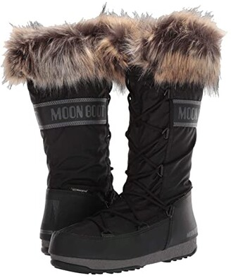 Moon Boot r) Monaco WP 2 (Black) Women's Boots
