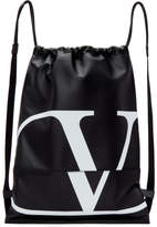 Valentino Black Go Logo Backpack