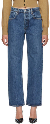Alexander Wang Blue Mid-Rise Skater Jeans
