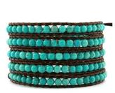 Chan Luu Turquoise Leather Wrap