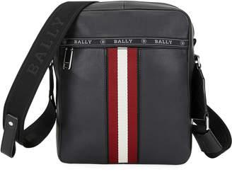Bally Men's Trainspotting Stripe Leather Crossbody Bag