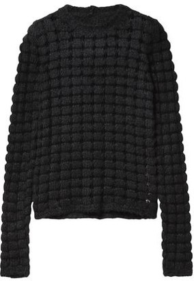 Rick Owens Crocheted Silk And Cotton-blend Sweater