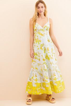 Anthropologie Solenne Flounced Maxi Dress