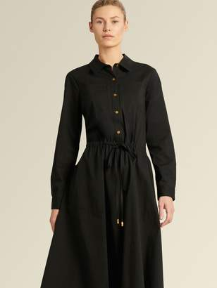 DKNY Button-up Dress With Roll-tab Sleeves