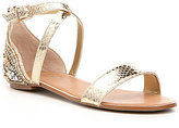 Gianni Bini Glammy Jeweled Metallic Snake Sandals