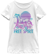 Fifth Sun White 'Free Spirit' Scoop Neck Tee - Girls