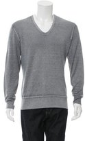 John Varvatos Silk-Blend V-Neck Sweater
