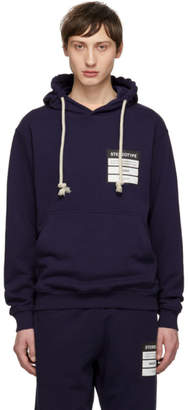Maison Margiela Blue French Terry Stereotype Hoodie