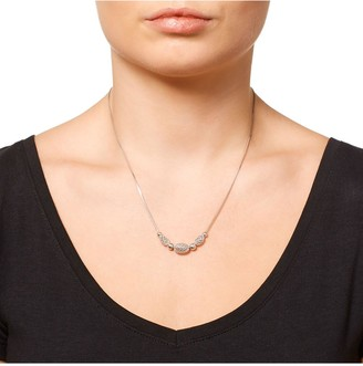 Beaverbrooks Silver Mesh Necklace