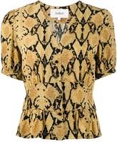 BA&SH Cleo snakeskin-print blouse