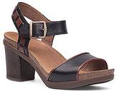 Dansko Debby Leather Banded Ankle Strap Block Heel Sandals
