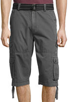 Plugg Defender Relaxed-Fit Lightweight Belted Twill Messenger Cargo Shorts