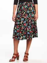 Old Navy Floral Midi Skirt for Women