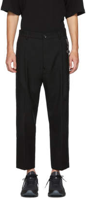 Song For The Mute Black Pleated Tapered Trousers