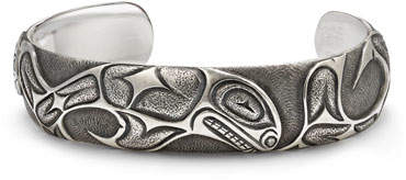 David Yurman Northwest Fish-Embossed Wide Cuff Bracelet