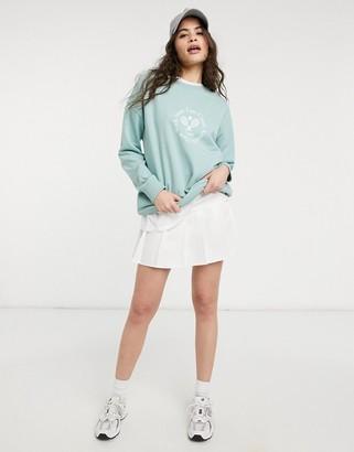 New Look tennis club sweatshirt in light green