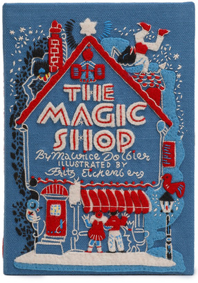 Olympia Le-Tan The Magic Shop Appliqued Embroidered Canvas Clutch