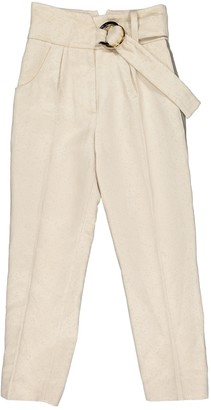 Petar Petrov Beige Cloth Trousers for Women