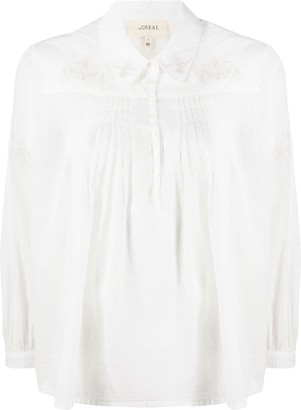 The Great Pleated Cotton Blouse