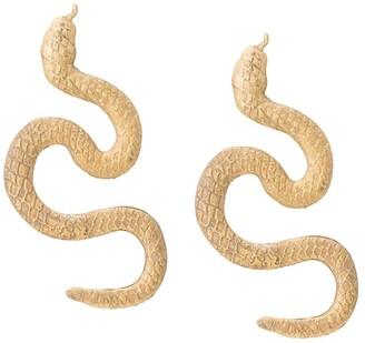 Natia X Lako snake earrings