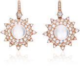 Nam Cho 18K Pink Gold Moonstone and Diamond Earrings