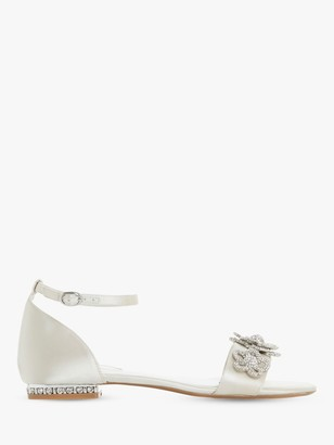 Dune Bridal Collection Noted Embellished Sandals, Ivory
