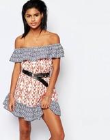 Tularosa Taylor Off Shoulder Dress in Print