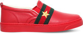 Gucci Jackson leather trainers