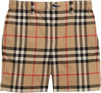 Burberry Sean Check Print Shorts