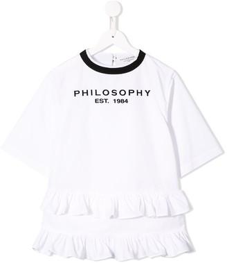 Philosophy Di Lorenzo Serafini Kids Frilled Logo Dress