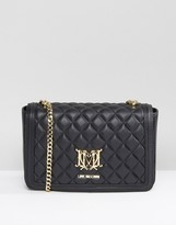 Love Moschino Quilted Shoulder Bag With Chain