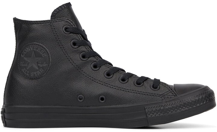 Womens Black Leather High Tops   Shop