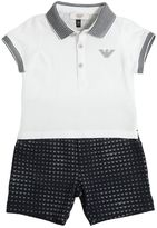 Armani Junior Logo Cotton Jersey Polo Shirt & Shorts