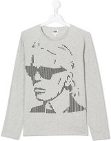 Karl Lagerfeld grapic long-sleeved top