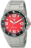 "Swiss Legend Men's 10008-55 ""Expedition"" Matte Grey Stainless Steel Watch with Red Dial"