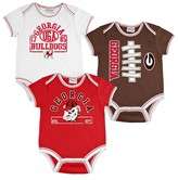 NCAA Georgia Bulldogs Newborn/Infant Boys 3pk Body Suit
