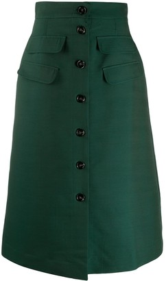 La DoubleJ Flared Midi Skirt
