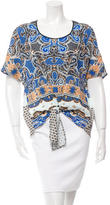 Clover Canyon Printed Tie Front Top