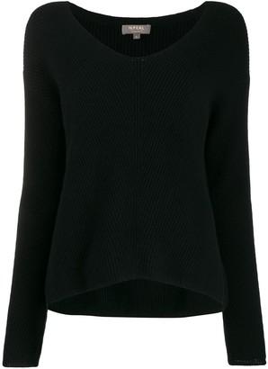 N.Peal V-neck long sleeve jumper