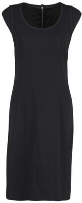 Dolce & Gabbana Black Wool Cap Sleeve Dress M