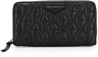 Karl Lagerfeld Paris Logo Quilted Continental Wallet