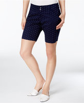 Lee Platinum Petite Printed Chino Bermuda Shorts, A Macy's Exclusive