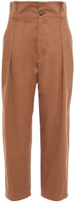 Brunello Cucinelli Cropped Cotton-twill Straight-leg Pants