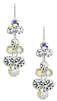 Cezanne Glass Rhinestone Round Drop Earrings